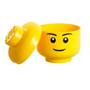 LEGO Yellow Head Storage Container